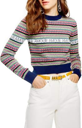 Topshop Amour Fair Isle Sweater