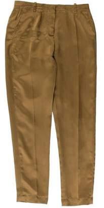 Brunello Cucinelli Silk Straight-Leg Pants