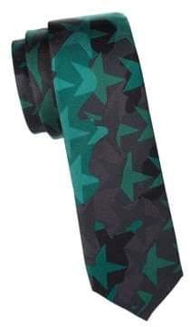 Valentino Camouflage Star Silk Slim Tie