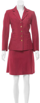 Narciso Rodriguez Silk Skirt Suit $125 thestylecure.com