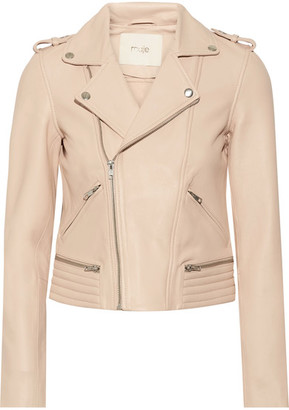 Leather Biker Jacket - Blush