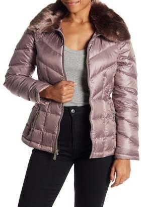 3dc02ca1a9a Kenneth Cole New York Faux Fur Collar Down Jacket