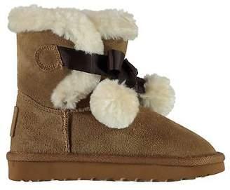 Soul Cal SoulCal Kids Girls Carmel Snug Infant Boots Slip On Faux Fur Trim Warm