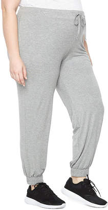PLANET MOTHERHOOD Planet Motherhood Jersey Jogger Pants - Plus Maternity
