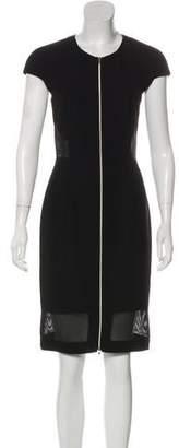 L'Agence Knee-Length Cap Sleeve Dress