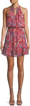 Parker Serenity Floral Silk Mini Dress