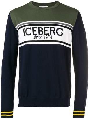 Iceberg intarsia logo sweater