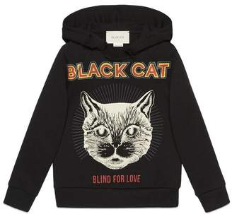 Gucci Children's sweatshirt with Black Cat print