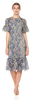 Shoshanna Women's Yuri Short Sheath Dress with Ruffled Sleeves