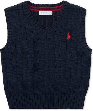 Polo Ralph Lauren Baby Boys Cable-Knit Cotton Vest