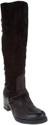 Miz Mooz Tall Leather Boots w/ Lace Detail - Shankara