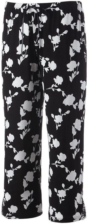 Apt. 9 pajamas: after dark knit pajama capris - women's