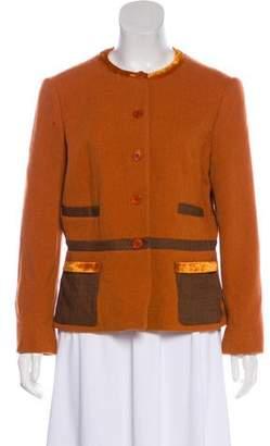 Etro Wool Button-Up Jacket