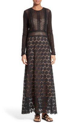 Women's Theory Rabella Daisy Lace Maxi Dress $595 thestylecure.com