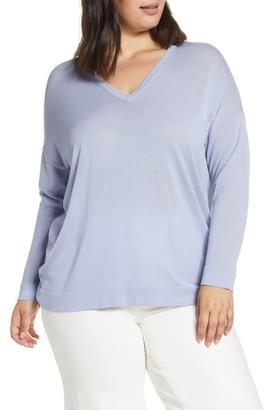 Eileen Fisher V-Neck Tunic Sweater