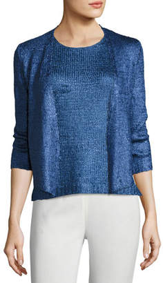 Nic+Zoe Day Dreamer Tape Yarn Cardigan, Plus Size