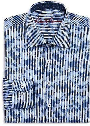 Robert Graham Boys' Printed Striped Dress Shirt - Big Kid