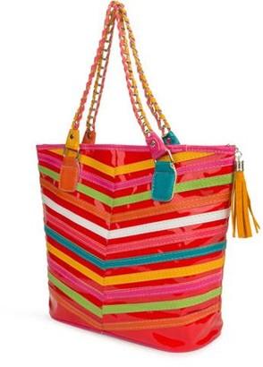 SUMACLIFE Women's Harmony Stripe Design Tote Bag