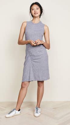 Monrow Asymmetrical Shirred Dress