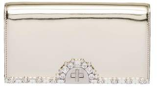 Prada Metallic Leather Clutch