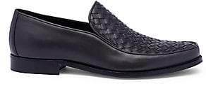 Bottega Veneta Men's Interwoven Leather Loafers