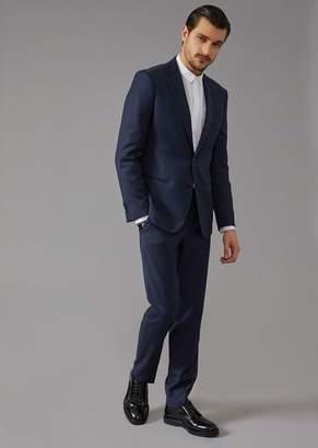 Giorgio Armani Micro-Jacquard Canvas Soho Suit