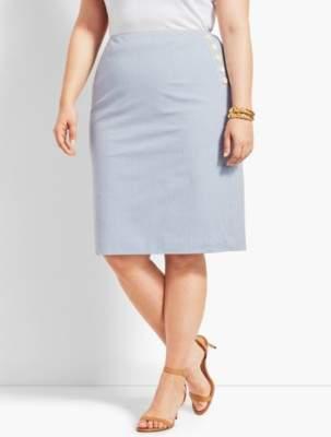 Talbots Seersucker Pencil Skirt