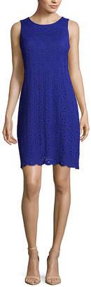 Ronni Nicole Sleeveless Medallion Lace A-Line Dress-Petite
