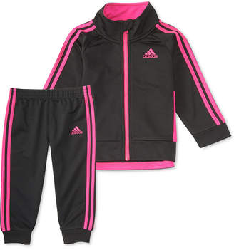 adidas 2-Pc. Tricot Jacket & Jogger Pants Set, Little Girls