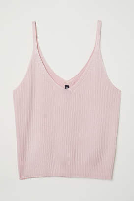 H&M Ribbed Camisole Top - Pink