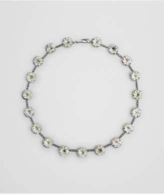 Bottega Veneta Chamomile Cubic Zirconia/Oxidized Silver Necklace