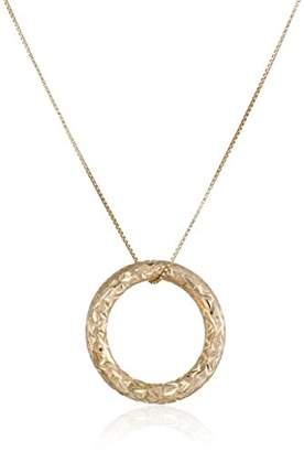 14k Gold Circle Pendant Necklace