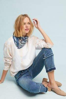 Anthropologie Pilcro High-Rise Cropped Bootcut Jeans