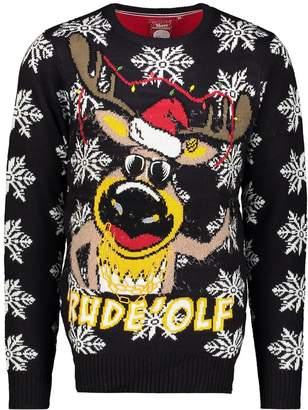 """boohoo Novelty """"Rude-olf"""" Christmas Jumper"""