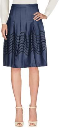 Halston Knee length skirts
