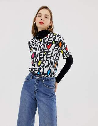 Love Moschino graffiti logo t-shirt