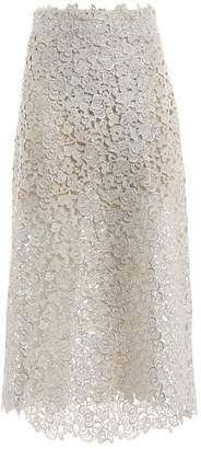 Ermanno Scervino Embroidered Flared Midi Skirt