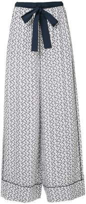 The Upside anchor print wide leg trousers