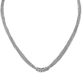 """Nobrand NO BRAND Sterling Multi-Strand 18"""" Necklace, 11.9g by Silver Style"""