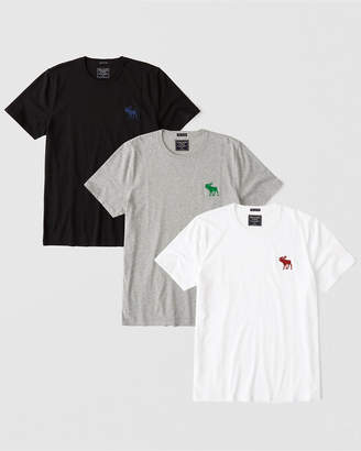 Abercrombie & Fitch 3-Pack Exploded Icon Tee