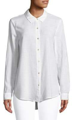 Eileen Fisher Spread Collar Button-Down Shirt