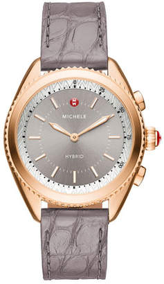 Michele 38mm Rose Golden Hybrid Smartwatch