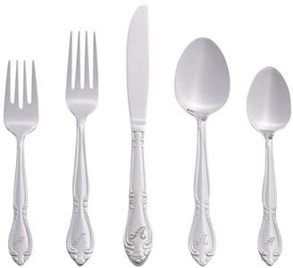 Three Posts Mcmeans 46 Piece Flatware Set Letter: A