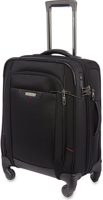 SAMSONITE Pro DLX four-wheel spinner cabin case 55cm $300 thestylecure.com