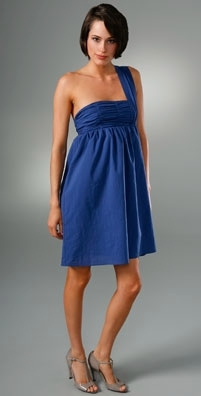 Larsen Gray Salvia Shoulder Sash Dress