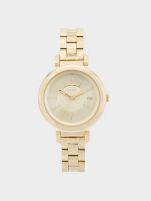 Donna Karan Donnakaran Ellington Gold-Tone Link Bracelet Watch