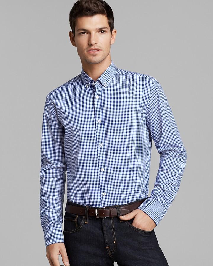 HUGO BOSS Sven New Vichy Gingham Check Sport Shirt - Slim Fit