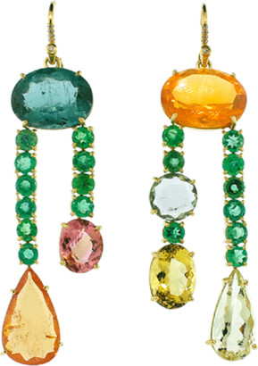 Irene Neuwirth JEWELRY Emerald & Fire Opal Earrings