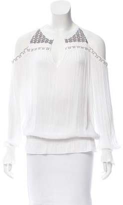 Ramy Brook Embroidered Cutout Blouse