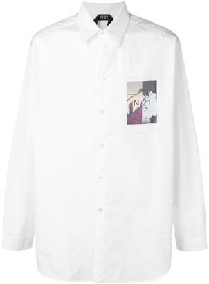 No.21 photographic print shirt